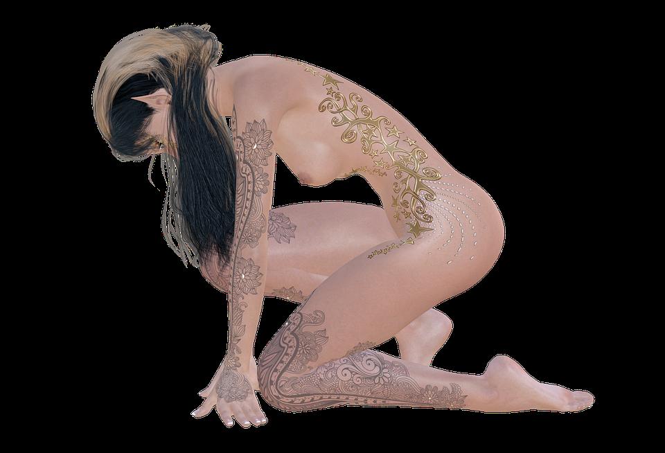 nahý model